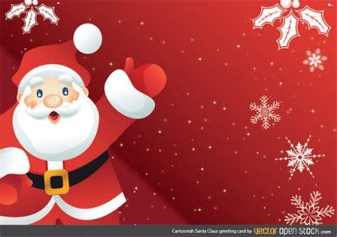 free christmas cards santa claus cards santa claus cartoon character greeting card vector free
