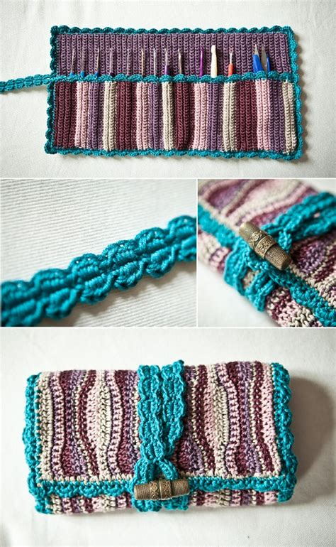 pattern crochet needle case crochet hook travel case free pattern