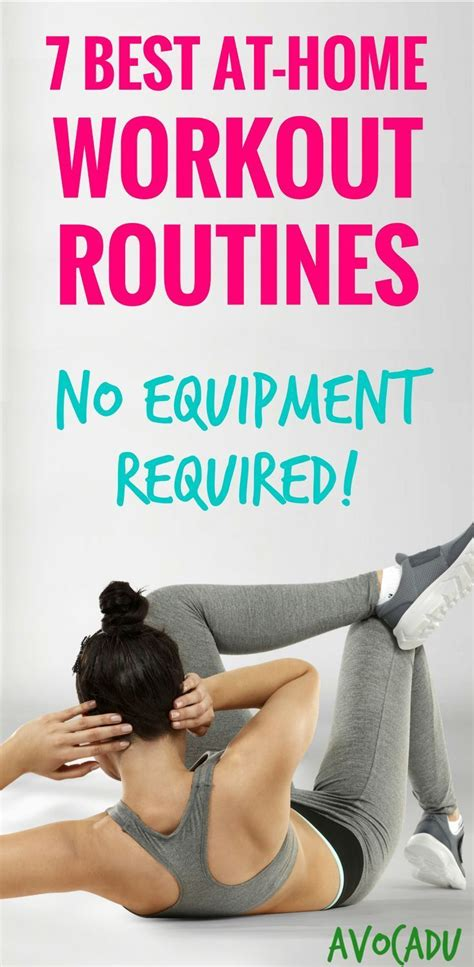 7 best at home workout routines no equipment required