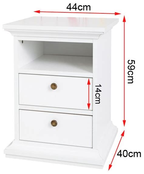 bedside table dimensions paris 2 drawer tall bedside table in white furniture123