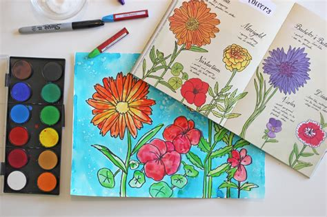 how to draw a garden with flowers how to draw paint garden flowers space sparkle
