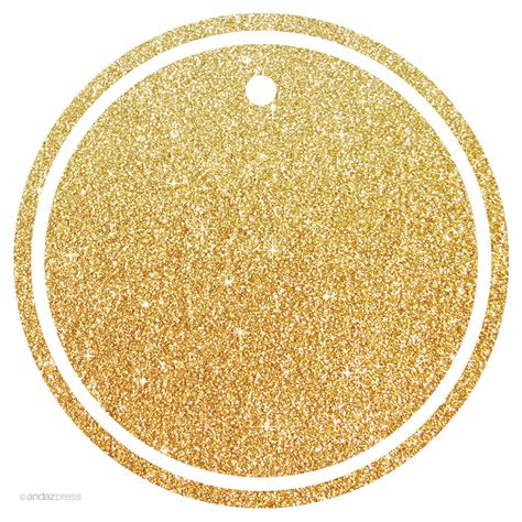gold tags circle gift tag images