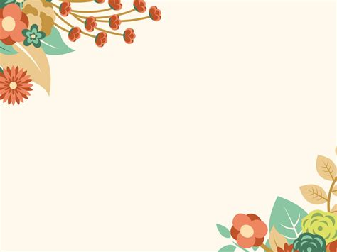 Free Orange Floral Summer Powerpoint Template Is A Other Nice Floral Design With Colorful Powerpoint Summer Templates