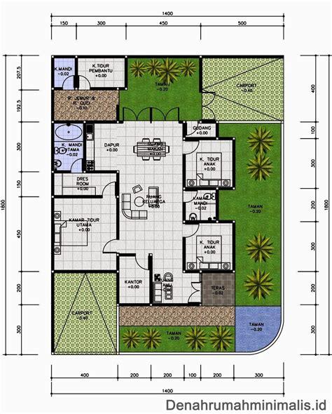 desain rumah 3 kamar mushola denah rumah minimalis modern 1 lantai 3 kamar tidur