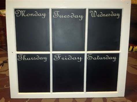 chalkboard paint for glass window with chalk board painted glass and days of the