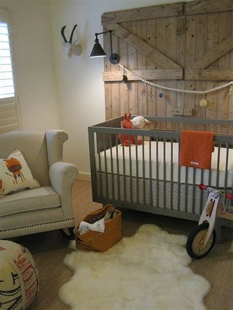 Country Nursery Decor Gray And Orange Nursery Country Nursery Sherry Hart Designs