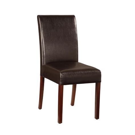 Parson Leather Dining Chairs Essential Home Faux Leather Parsons Chair Shop Your Way Shopping Earn Points On