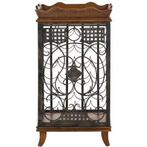 safavieh robin brown wine rack with removable tray