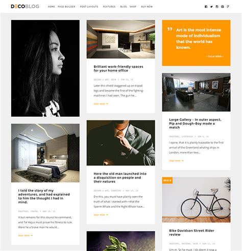 page layout web based 25 beautiful card based wordpress themes idevie