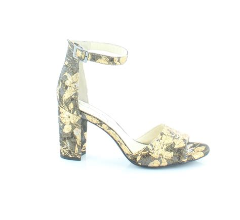 jessica simpson sherron gold womens shoes size   heels