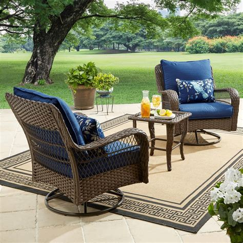 homes gardens colebrook  piece outdoor chat set