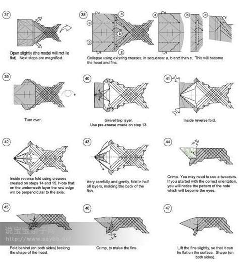 printable origami instructions fish origami koi fishmoney fish instructions origami
