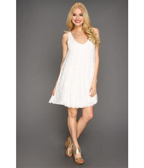 free people lace swing dress free people lace swing dress ivory zappos com free