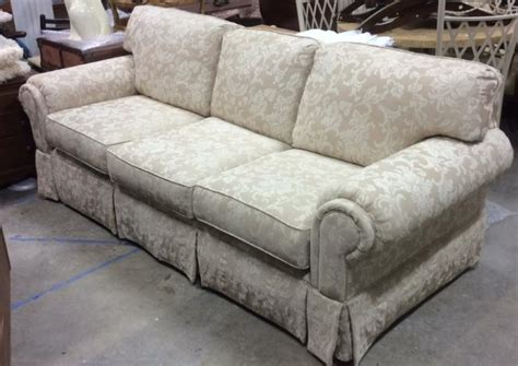 hickory hill couch hickory hill upholstered beige cream toned sofa