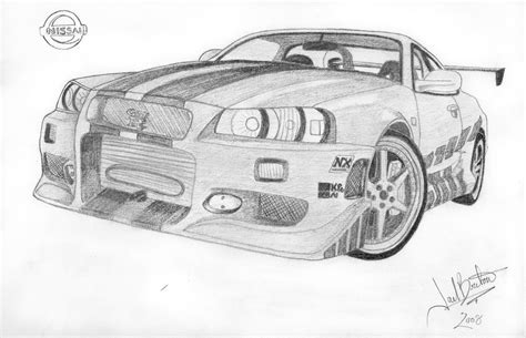 nissan skyline drawing 2 fast 2 furious the gallery for gt fast and furious cars drawings skyline