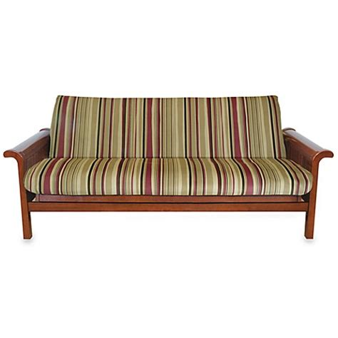 buy brushed cotton twill futon cover in red stripe