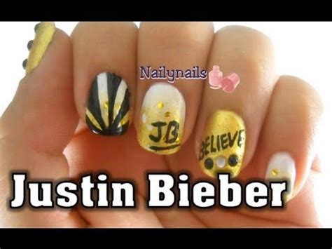 imagenes de uñas decoradas de justin bieber justin bieber nail art inpisred u 241 as de justin bieber