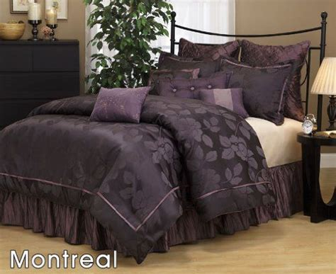 purple comforter set queen size com 7 pieces dark purple jacquard lotus flower