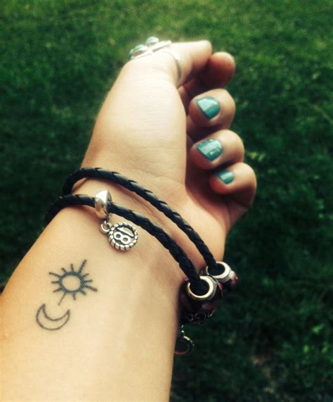 small simple sun tattoos best 25 moon wrist ideas on crescent