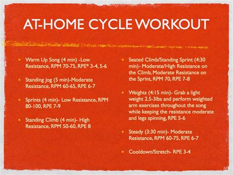 at home cycling workout my own balance