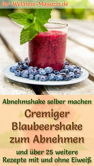 blaubeershake zum abnehmen smoothie eiweissshake zum