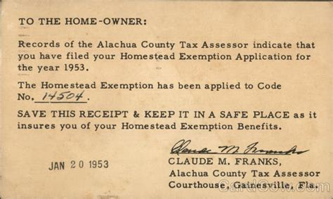 Alachua County Property Records To The Home Owner From The Alachua County Tax Assessor
