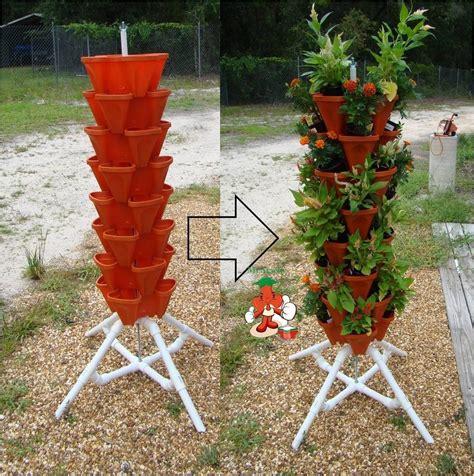 vertical gardening tiered tower indoor
