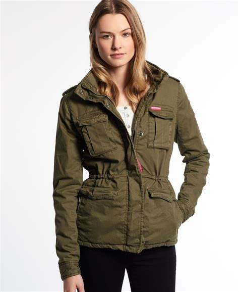 new womens superdry winter rookie jacket deepest
