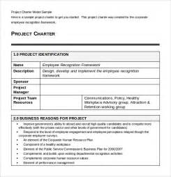 project charter template pdf sle project charter template 8 free documents