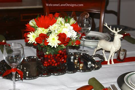 beautiful christmas decor for home dining room table on