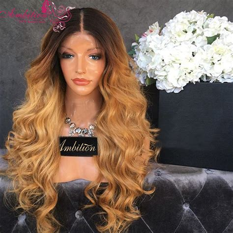 front hair blonde black hair dark dark root 1b 27 ombre lace front human hair wigs honey
