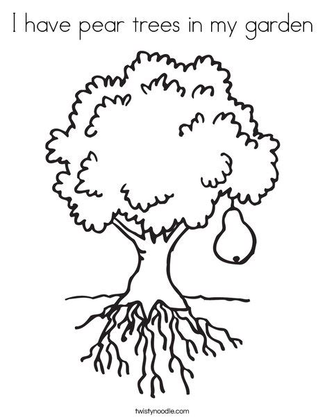my garden coloring page i have pear trees in my garden coloring page twisty noodle
