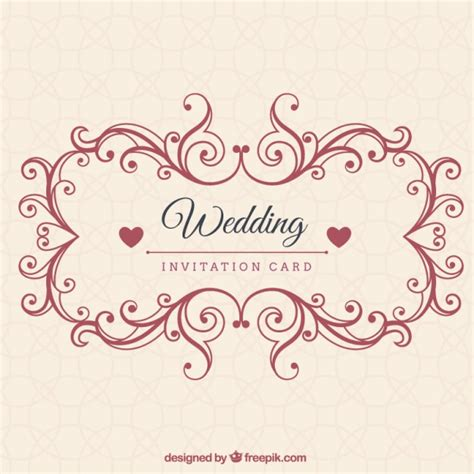 Wedding Invitation Freepik by Ornamental Wedding Invitation Card Vector Premium