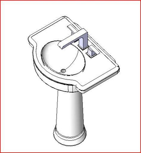 how to draw a bathroom sink revitcity object pedestal sink