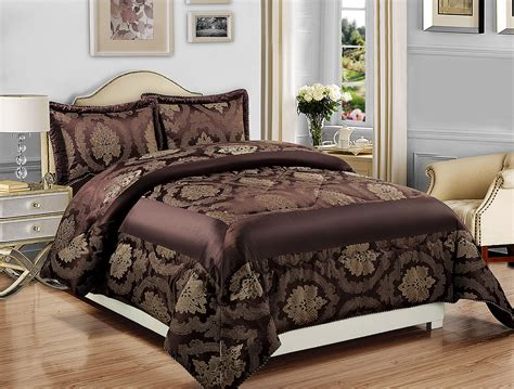 Quilted Comforter Sets King by Luxury Bedspread 3pcs Jacquard Bedspread Quilted Bed