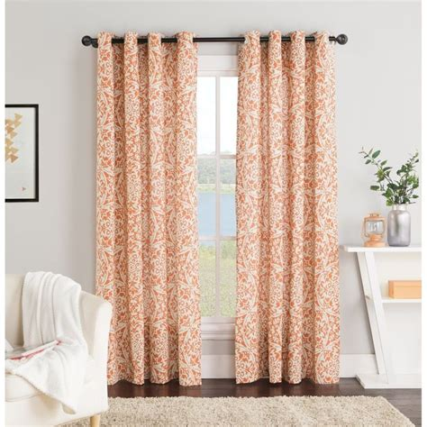 Orange Patterned Curtains Orange Patterned Curtains Interior Design