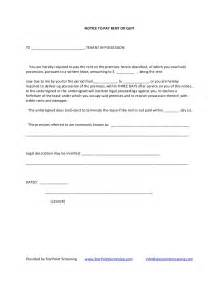 notice to pay rent or quit template notice to pay rent or quit