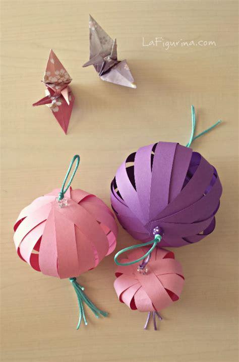 costruire lanterne volanti come fare una lanterna di carta tutorial la figurina