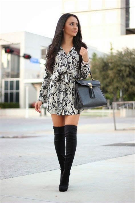 knee boots contribute to effortless chic