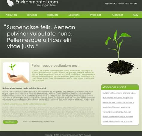 templates website photoshop environmental free psd template free psd in photoshop psd