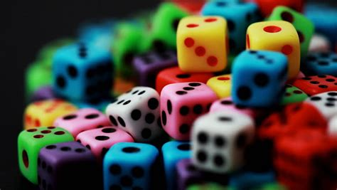 colorful dice stacked  stock footage video