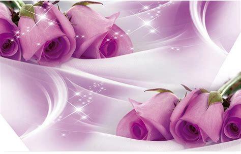 Wallsticker Purple Flower Bunga Ungu purple flower mural purple 3d room