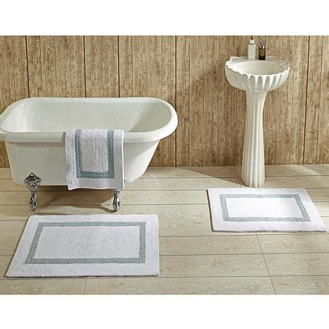 Better Trends Hotel Collection Reversible 2 Piece Bath Rug Hotel Collection Bathroom Rugs