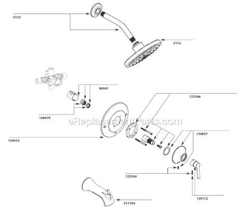 Moen Shower Replacement Parts by Moen Ts31702 Parts List And Diagram Ereplacementparts
