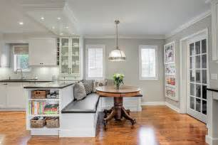 dining room banquette curved bench seating booth kitchen