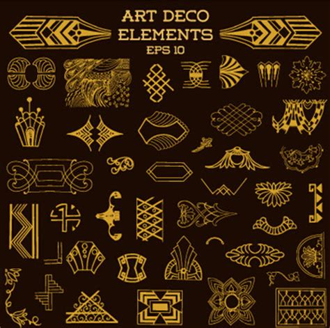 design elements of art deco art deco design elements free vector download 217 987