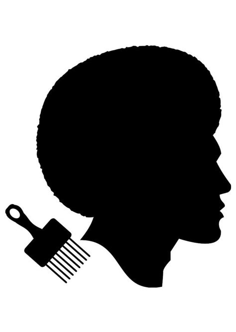 Dibujo para colorear peinado de hombre africano - Img 23035