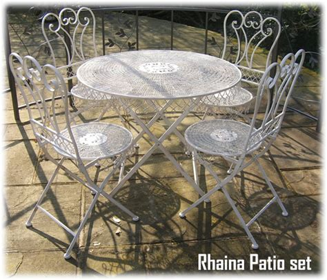 Chic Patio Furniture Wrought Iron Shabby Chic Garden Patio Furniture Set Rh1