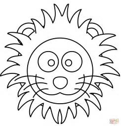 coloring page of a lion s head cartoon lion head coloring page free printable coloring