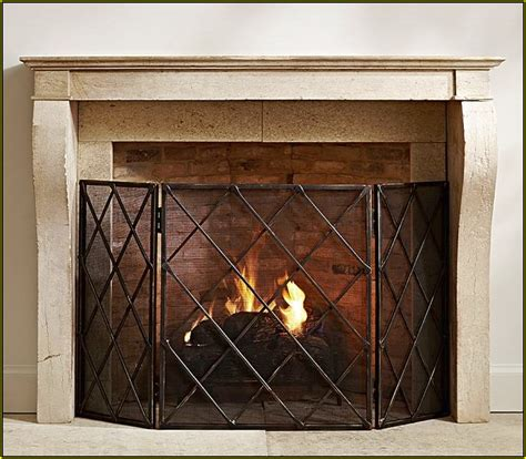 industrial fireplace screen pottery barn lattice fireplace screen home design ideas